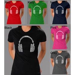 Los Angeles Pop Art Women's 'Headphones' T-shirt
