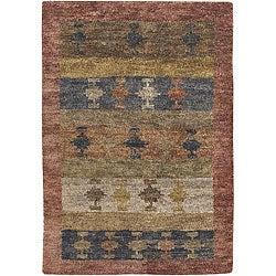 Hand-Tufted Jute Mandara Rug (5' x 7'6)