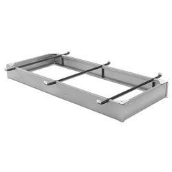 Aluminum-finish Steel Bed Pedestal