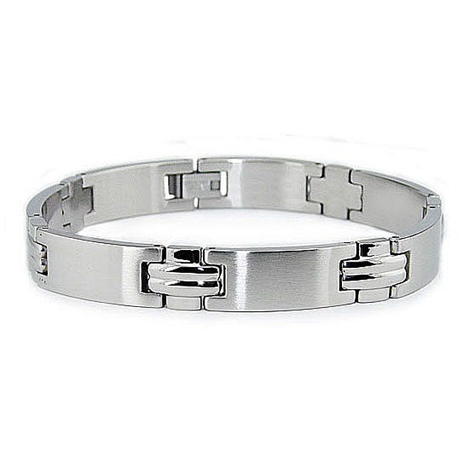 durable stainless steel s link bracelet overstock
