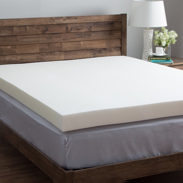 Comfort Dreams Ultra Soft 4 Inch Memory Foam Mattress Topper Overstock Shopping The Best