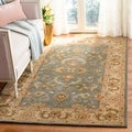 Handmade Heritage Kermansha Blue/ Beige Wool Rug (8&#39;3 x 11&#39;)