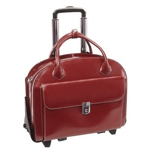 McKlein Glen Ellyn Leather Detachable-wheeled Laptop Case