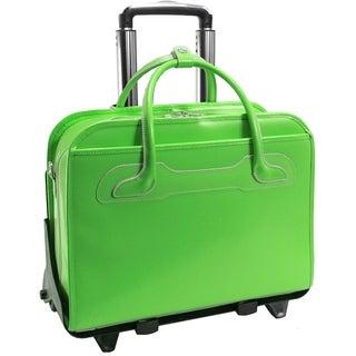 McKlein Green Willowbrook Detachable-Wheeled Laptop Briefcase