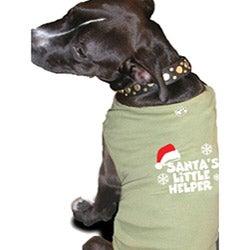 'Santa's Little Helper' Cotton Dog Tank Top