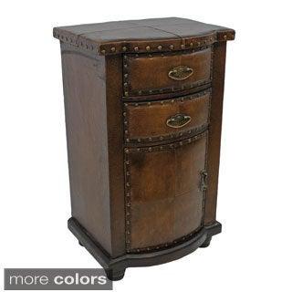 International Caravan Faux Leather Cabinet
