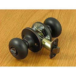 Dark Oil-rubbed Bronze Privacy Mushroom Doorknob