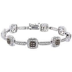 DB Designs Sterling Silver 2/5ct Diamond Link Bracelet (I2)