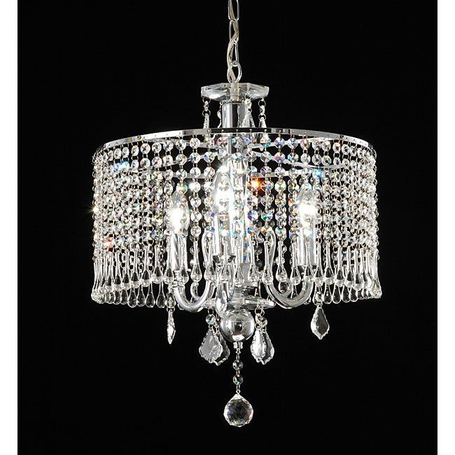 Contemporary 3-light Crystal Chandelier