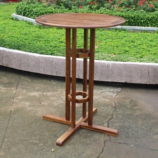 International Caravan Acacia Wood Bar-height Bistro Table