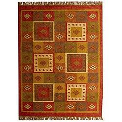 Handwoven Wool Area Rug (5' x 8')
