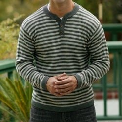 Alpaca Wool Men's 'Fine Horizon' Sweater (Peru)