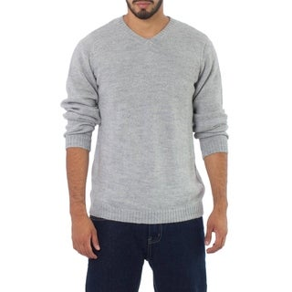 Alpaca Wool 'Graceful Memories' Men's Sweater (Peru)