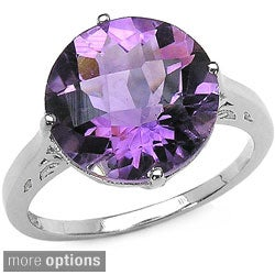Malaika Sterling Silver Gemstone Solitaire Ring