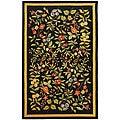 Safavieh Indoor Hand-hooked Garden Black Wool Rug (7'9