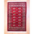 Hand-knotted Red/ Ivory Bokhara Wool Rug (3' x 5') (Pakistan)