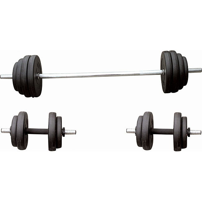 Sunny Health Fitness 100-pound Vinyl Weight Set