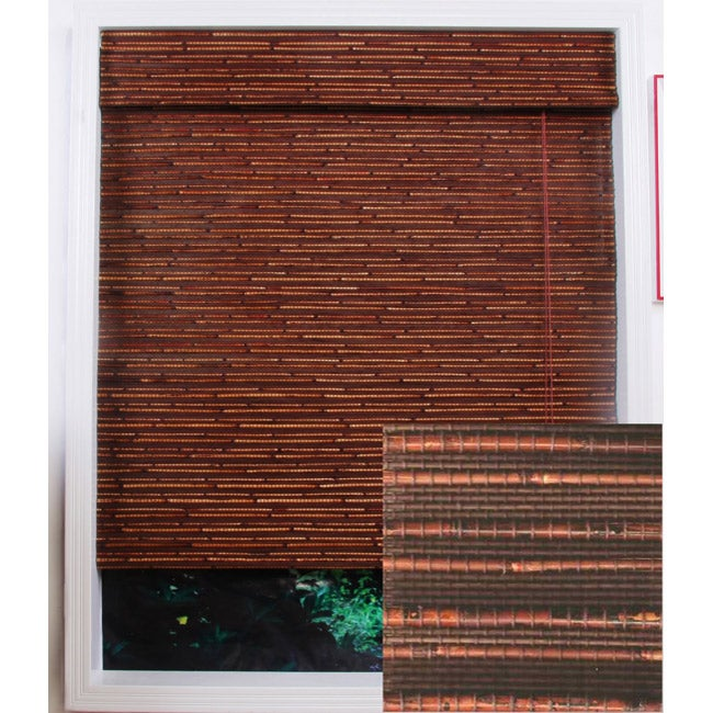 Rangoon Bamboo Roman Shade (23 in. x 54 in.)