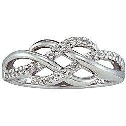 Sterling Silver 1/10ct TDW Diamond Infinity Fashion Ring