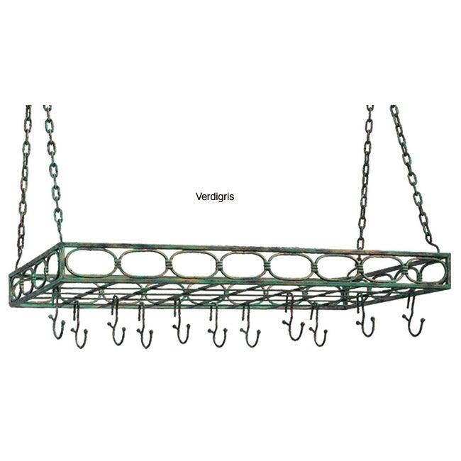 Metal Rectangular 16-hook Pot Rack