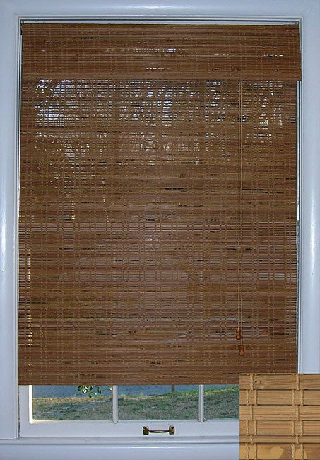 Tuscan Bamboo Roman Shade (46 in. x 74 in.)