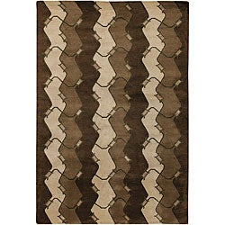 """Hand-Knotted Mandara New Zealand Wool Area Rug (7'9"""" x 10'6"""")"""