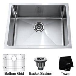 Kraus 23-inch Undermount Single Bowl Steel Kitchen Sink