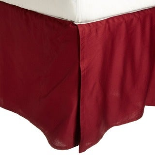 Luxor Treasures Egyptian Cotton Solid-colored Washable 15-inch Drop Length Bedskirt