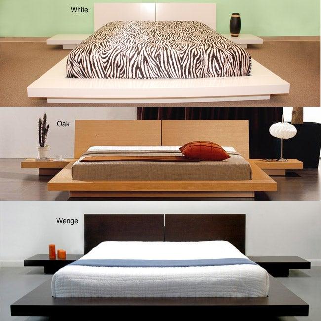 Fujian 3-piece King-size Platform Bedroom Set