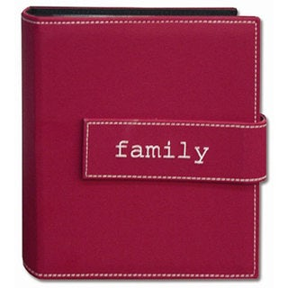 Pioneer Photo Pink 4x6 Hook-and-loop Strap Photo Albums (Pack of Two)
