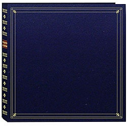 Pioneer Large Format Navy Blue with Gold Accents Cover Memo Album with 120 Bonus Pockets