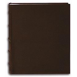 Pioneer Sewn European Bonded Brown Leather Bookbound Bi-directional Memo Albums (Pack of 2)
