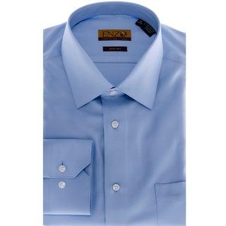 Men's Blue Twill Barrel-cuff Dress Shirt