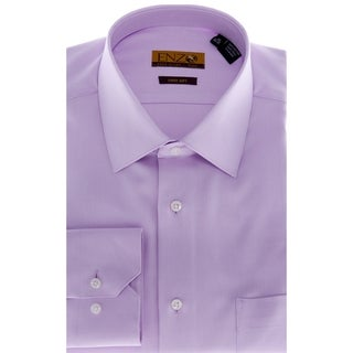 Men's Lavender Barrel-cuffed Twill Dress Shirt