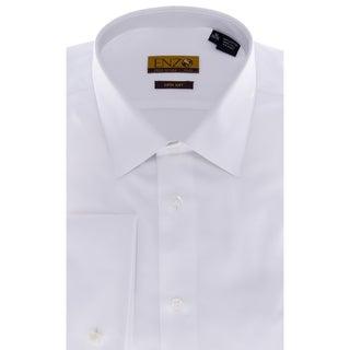 Men's White Twill French-cuffed Shirt