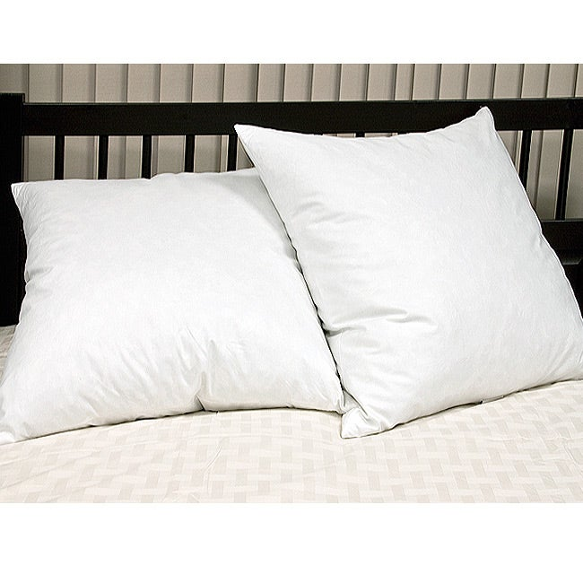 European 26-inch Square 230 Thread Count Feather Pillows (Set of 2)