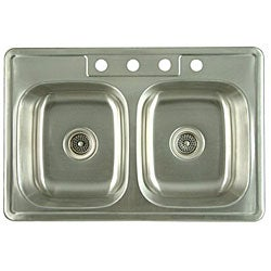 Stainless Steel Double-bowl Kitchen Sink