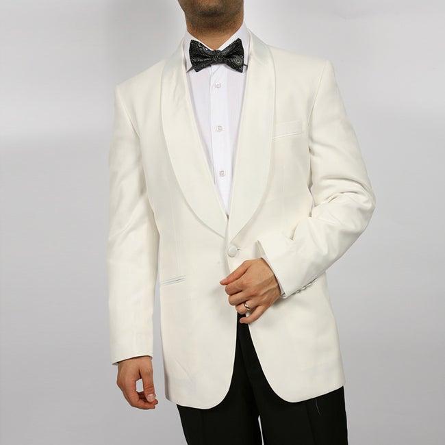 Ferrecci Men's White Shawl Collar Dinner Jacket