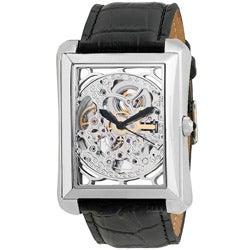 Akribos XXIV Men's Skeleton Automatic Strap Watch