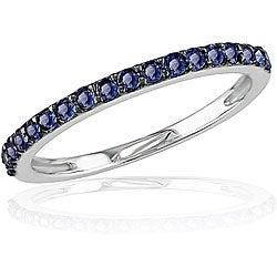 10k White Gold Blue Sapphire Ring