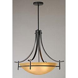 Contemporary Antique Bronze 3-light Chandelier