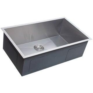Highpoint Collection 32-inch Zero Radius Stainless Steel Kitchen Sink with Drain