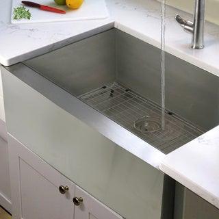 Stainless Steel Single Bowl Apron Farmhouse Kitchen Sink with Drain