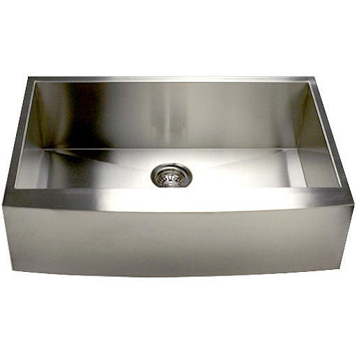 Stainless Steel Single Bowl Apron Farmhouse Kitchen Sink with Drain ...