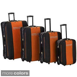Rockland Polo Equipment 4-Piece Rolling Luggage Set