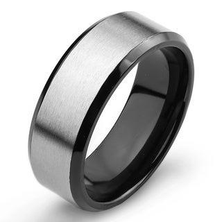 Men's Titanium Two-Tone Ring (8 mm)