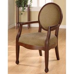 Oval-back Fern Arm Chair
