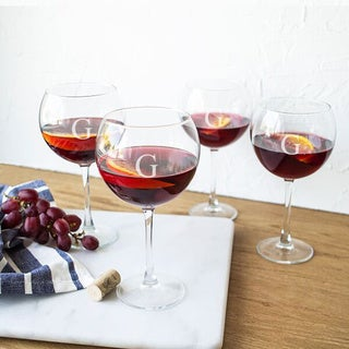 Personalized Red Wine Glasses (Set of 4)