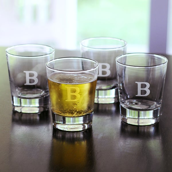 Personalized Double Old-fashioned Glasses (Set of 4)