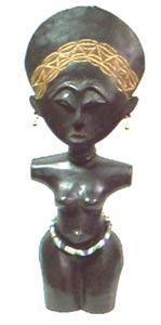 Handcarved Fertility Doll (Ghana)